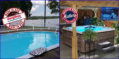 Our pools and spas / hot tubs are made in America!