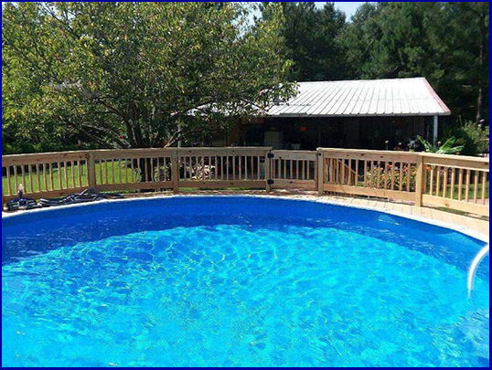A beautiful Doughboy pool from Berry Family Pools