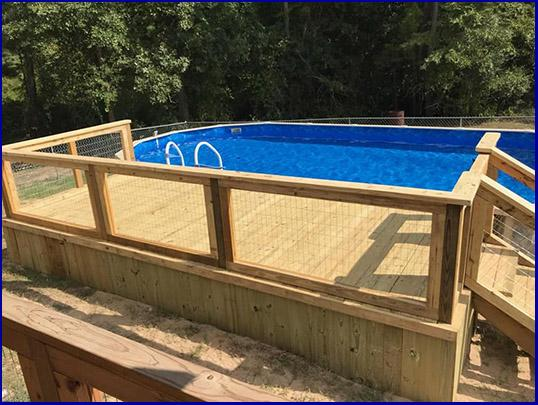 A custom deck enhances the enjoyment and value of your pool.