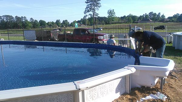 Attaching tops to the pool walls