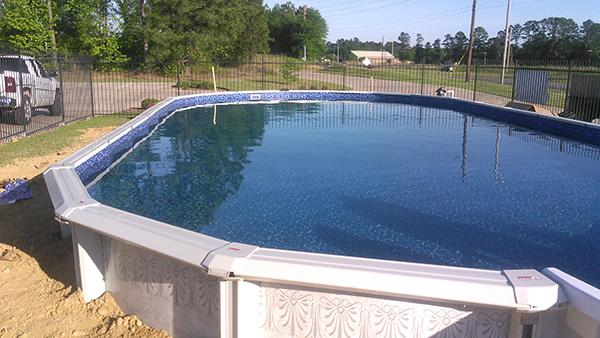 Pool construction is complete