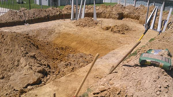Pool, steps, and deep area taking shape